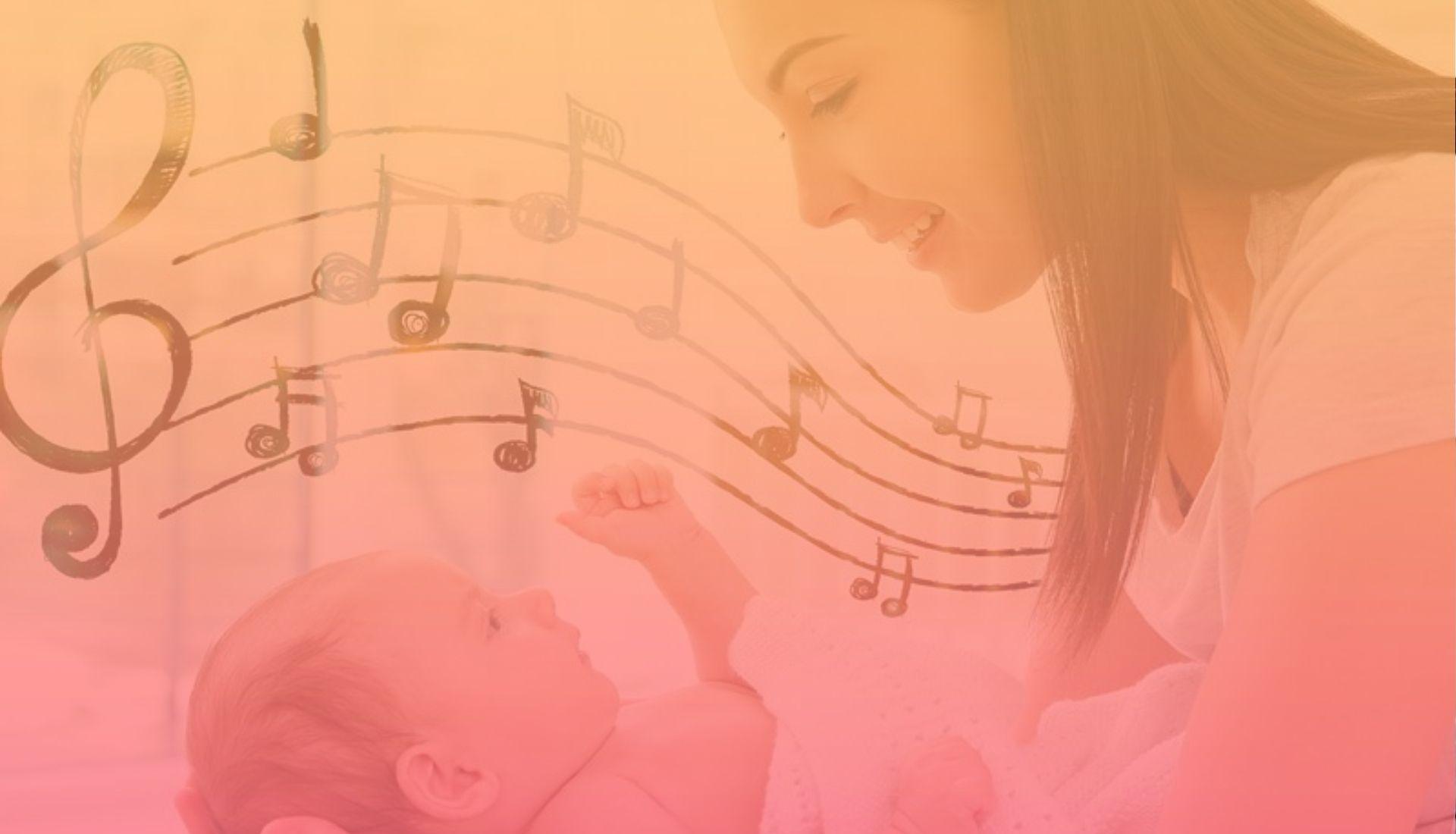 Bimbo Mamma e Pentagramma - Forme Sonore - 1920x1100 pixel